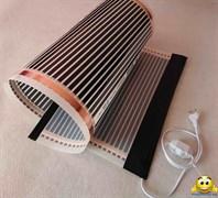 Электрический коврик-сушилка 50х50 (инфракрасная нагревательная пленка в сборе, обогрев цыплят, кроликов) 50Вт
