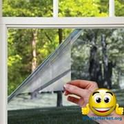 Солнцезащитная тонировочная пленка для окон с зеркальным эффектом (размер 0,7х5,4 метра), затемнением до 70%, многоразовая Original